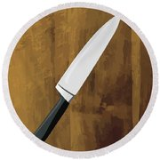 Knife Round Beach Towel
