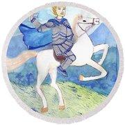 Knight Of Swords Round Beach Towel