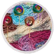 Knitting Lane Round Beach Towel