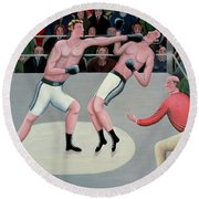 Knock Out Round Beach Towel