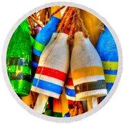 Knotty Buoys Round Beach Towel