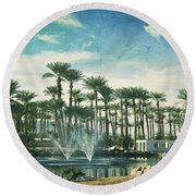 Knowing What Matters Round Beach Towel