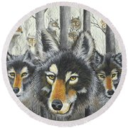 Knoxville Wolves Round Beach Towel