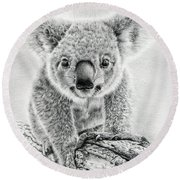 Koala Oxley Twinkles Round Beach Towel