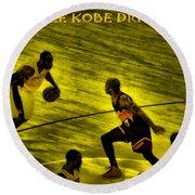Kobe Lakers Round Beach Towel