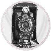 Kodak No. 2 Folding Autographic Brownie Camera Round Beach Towel
