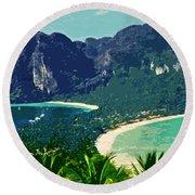 Koh Phi Phi ... Round Beach Towel