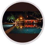 Koh Samui Beach Resort Round Beach Towel
