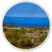 Kohala Coast Panorama Round Beach Towel