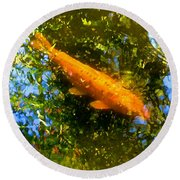 Koi Fish 1 Round Beach Towel