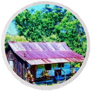 Kona Coffee Shack Round Beach Towel