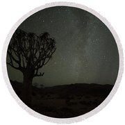 Kookerboom Tree With Milky Way Round Beach Towel
