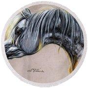 Kordelas Polish Arabian Horse Soft Pastel Round Beach Towel