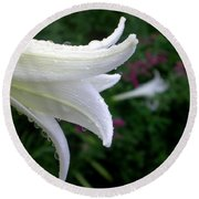 Korean Lily Round Beach Towel
