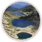 Kremenski Lakes Pirin National Park Bulgaria  Round Beach Towel