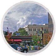 Kress Building Asheville Round Beach Towel