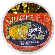 Kruger's Farm Round Beach Towel