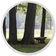 Ksu Ashtabula Campus Park Round Beach Towel