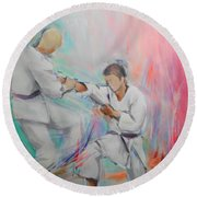 Kumite Round Beach Towel