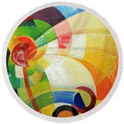 Kupka's Untitled Round Beach Towel