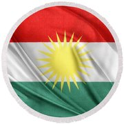 Kurdistan Flag Round Beach Towel
