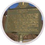 Ky-1995 Joseph Alexander Matthews 1902-1970 Round Beach Towel