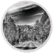 Kyle Canyon Road Round Beach Towel