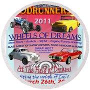 L C Rodrunner Car Show Poster Round Beach Towel