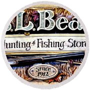 L. L. Bean Hunting And Fishing Store Since 1912 Round Beach Towel