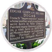 La-012 Edgar Germain Hilaire Degas Round Beach Towel