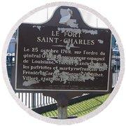 La-013 Le Fort Saint-charles Round Beach Towel