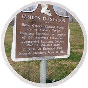 La-020 Fashion Plantation Round Beach Towel