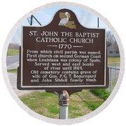 La-024 St John The Baptist Catholic Church 1770 Round Beach Towel