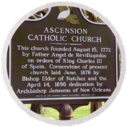 La-031 Ascension Catholic Church Round Beach Towel