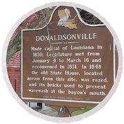 La-032 Donaldsonville Round Beach Towel