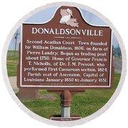 La-033 Donaldsonville Round Beach Towel