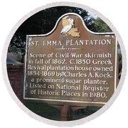 La-034 St. Emma Plantation Round Beach Towel