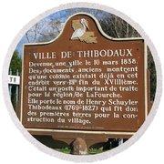 La-036 Ville De Thibodaux Round Beach Towel