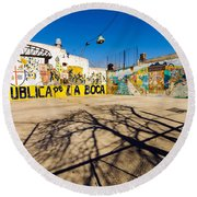 La Boca Graffiti Round Beach Towel