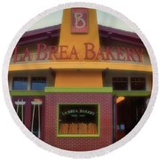 La Brea Bakery Downtown Disneyland Round Beach Towel