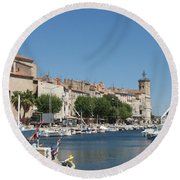 La Ciotat Harbor Round Beach Towel