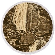 La Coca Falls El Yunque National Rainforest Puerto Rico Prints Rustic Round Beach Towel