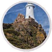 La Corbiere Lighthouse Round Beach Towel