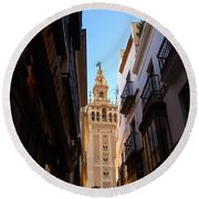 La Giralda - Seville Spain  Round Beach Towel