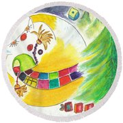 La Glissade / The Sliding Round Beach Towel