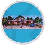 La Lechonera Restaurant Key West Florida Round Beach Towel