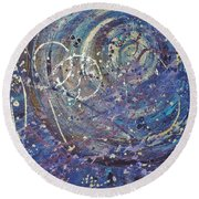 La Luna Round Beach Towel