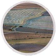 La Mancha Landscape - Spain Series-ocho Round Beach Towel