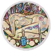 La Ofrenda A Yemanja - Version 02 Round Beach Towel
