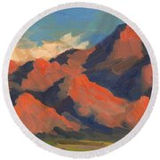 La Quinta Mountains Morning Round Beach Towel